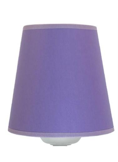 Şenay Aydınlatma Masa Lambası Kumaş K.Abajur-Violet Renkli
